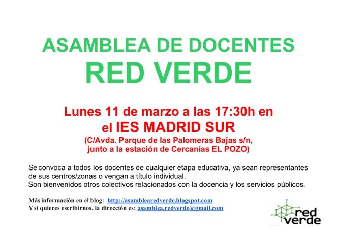 ASAMBLEA RED VERDE 11 DE MARZO